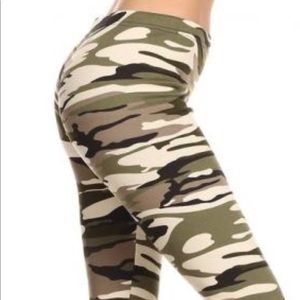 Camouflage leggings plus size